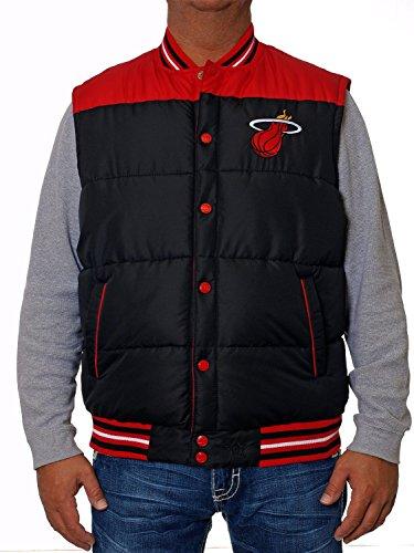 Miami Heat Reversible Nylon Puffer Vest Black (Large)