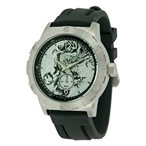 Ed Hardy Men's MX-BK Matrix Black Watch