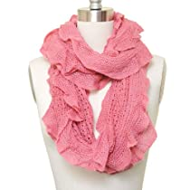 Laced Destroyed Eternity Solid Scarf Pink Color