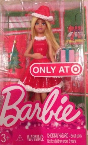 Barbie 2014 Target Exclusive Christmas Happy Holiday Mini Doll by Mattel