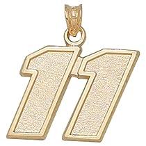 Logoart Denny Hamlin 10K Large Number Pendant