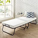 "Zinus Roll Away Folding Guest Bed Frame with 4 Inch Comfort Foam Mattress, Narrow Twin / 30"" x 75"""