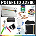 Polaroid Z2300 10 Megapixel Digitale Sofortbildkamera (Wei�) mit 8GB Speicherkarte + Tasche + Stativ + Zinkpapier (30er Pack ) + Tragegurte + Zubeh�r Kit