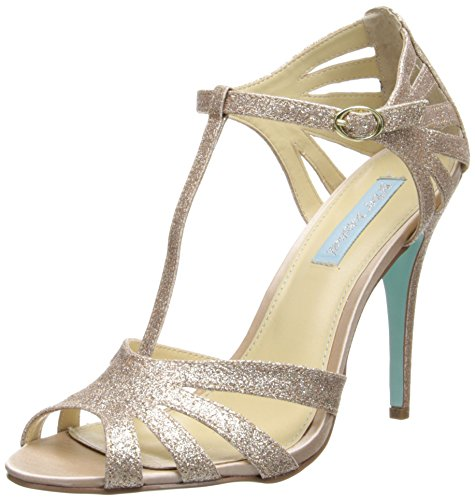 Blue by Betsey Johnson Women's SB-Tee Dress Pump,Champagne,8.5 M US