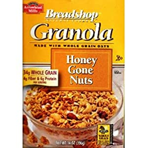 Breadshop's Granola Cereal, Honey Gone Nuts, 14-Ounce Boxes (Pack of 6)