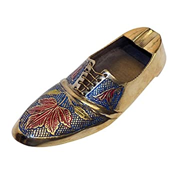 DIWALI OFFER Crafts'man ASHTRAY/PAPER WEIGHT Vintage Style Antique Looking Shoe Shape Paper weight