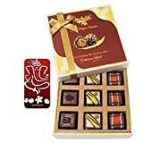 Chocholik Belgium Chocolates - 9pc Divine Assorted Treat To Your Friend With With 3d Mobile Cover For IPhone 6...