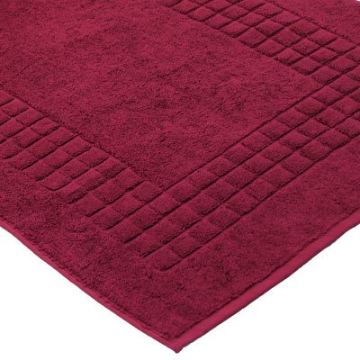 Supreme tappeto da bagno 100 cotone egiziano rosso - Tappetini per il bagno ...