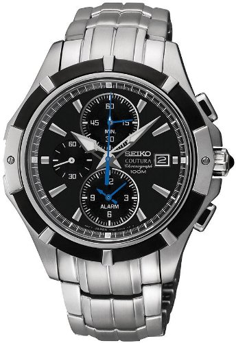 Seiko Coutura Chronograph Stainless Steel Mens Watch SNAF11