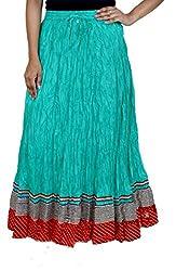 Rangreja Women's Skirt (WESK101SGR38_Green_38)
