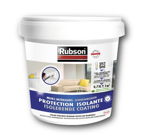 Rubson 1543354 Stop Condensation - Pintura antihumedades (para paredes interiores, bote de pl�stico, 0,75 L), color blanco