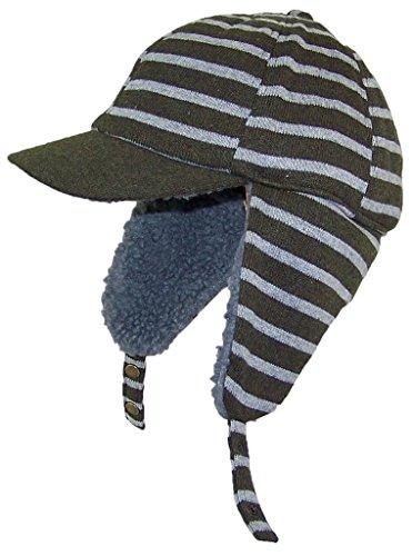 dy-striped-elmer-fudd-style-trooper-hat-w-berber-ear-flaps-visor-one-size-olive