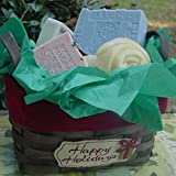 All Natural Handmade Soap Gift Basket 5 .(Five Piece) for Gifts, Guests and Personal Care ~ Natural Handcrafted...