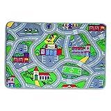 City Roads Play Rug - Anti-Slip Latex Backing - 133 x 95cm