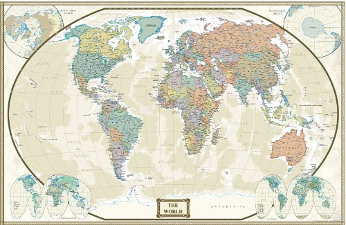 Wall map of the world low prices update hot new all about for Executive world map wall mural