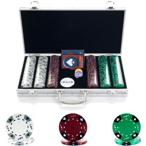 300 14G Tri Color Ace/King Suited Chips In Aluminum Case (10-1850-3001S) - front-404180