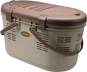 IRIS Pet Carrier for Dog or Cat, Tan