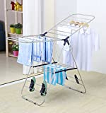 EWEI'S HomeWares Rust-proof Gullwing Drying Rack, 58 L x 23.5 W -inches