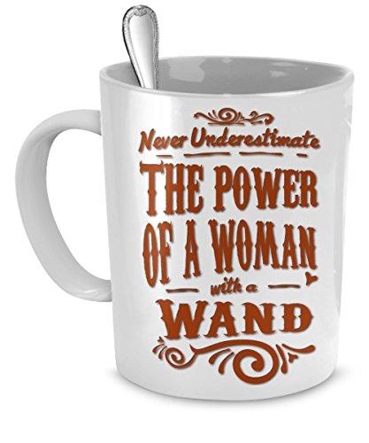 Oz Coffee Mug - Never Underestimate A Woman With A Wand