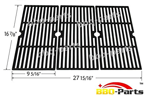 Hongso PCH763 Cast Iron Cooking Grid Replacement 68763 for Select Gas Grill Models by Charbroil, Kenmore and Others, Set of 3 (Grill Grate Charbroil compare prices)