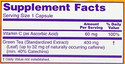 Now Foods Green Tea Extract 400 mg (Pack of 4)