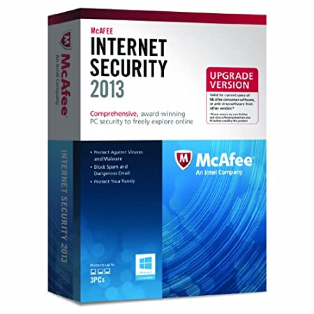 McAfee Internet Security 2013 Upgrade - 3 PCs, 12 month Subscription (PC)
