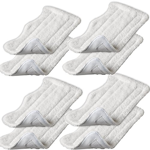 Iautomatic 8pcs Replacement Microfiber Pads for Euro Pro Shark Steam Mop S3250 S3101 (set of 8) (Steam Mop S3101 compare prices)