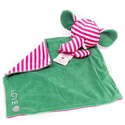 Bella Tunno Poetic Plush Lovey Blanket, Love Elephant