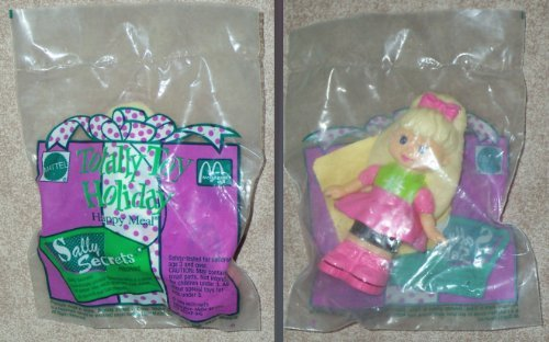 McDonalds - Totally Toy Holiday - SALLY SECRETS (Caucasian) - Paper Punch Figure - 1993 - 1