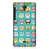 Head Case Designs Kawaii Green Owl Patterned Design Back Case for Sony Xperia T LT30P