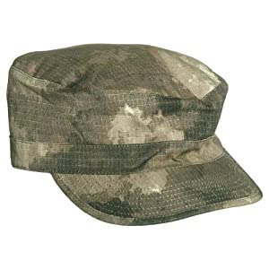 Tactical Army ACU Style Patrol Hat Field Cap Hunting Ripstop A-TACS Camo by Mil-Tec
