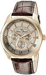 Lucien Piccard Men's 10153-RG-014 Odessy Analog Display Quartz Brown Watch