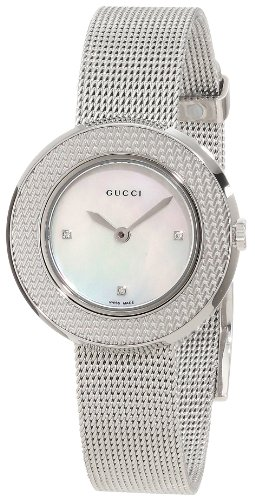 Gucci Women's YA129517 U-play Mother of Pearl Dial with Diamonds Watch