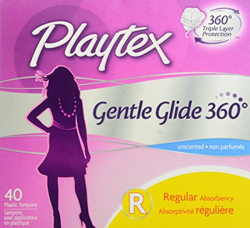 Playtex Gentle Glide Tampons with Triple Layer Protection,