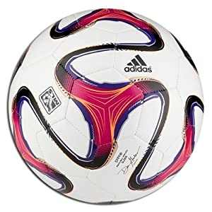 adidas 2014 MLS Glider Soccer Ball Size 5 (White, Orange, Purple)