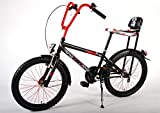 20-Zoll-Kinderfahrrad-Chopper-Volare-Kinderrad-Fahrrad-matt-schwarzrot