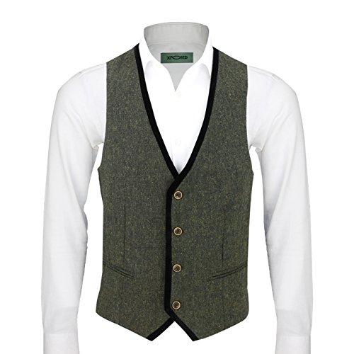 xposed-verde-vintage-da-uomo-misto-lana-tweed-completo-3-pezzi-articoli-venduti-separatamente-blazer