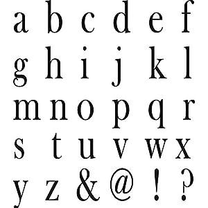 Set 30 timbri di legno Alfabeto Corsivo lettere h 0.8 cm - Stamperia ...