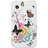 Hunye Silikon Tasche Schutzhülle für Samsung Galaxy Ace S5830 S5830i - Case Cover Schmetterling Design Etui Schale