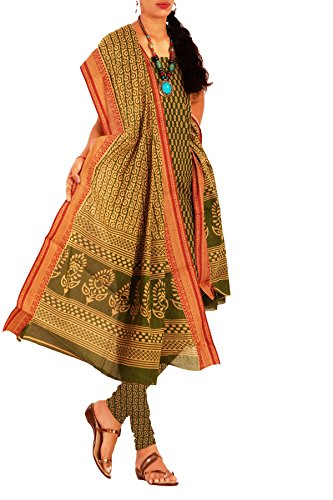 8d9535f656 23% OFF on Unnati Silks Women green-cream Venkatagiri handloom salwar kameez  dress material (SDP398) on Amazon | PaisaWapas.com