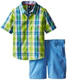 Nautica Boys 2-7 2 Piece Short and Short Sleeve Woven Set 2