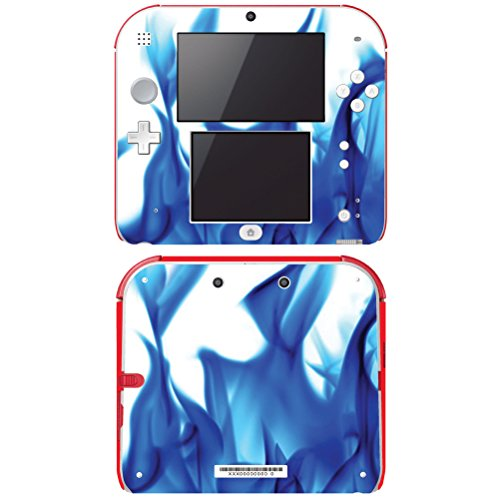 Decal Skin Vinyl Game Cover For Nintendo 2Ds - Blue Flame