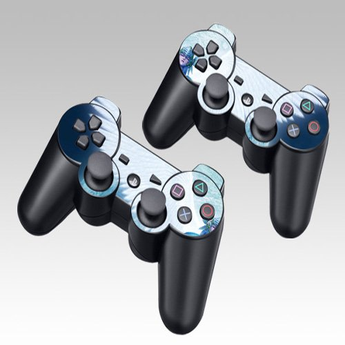 Design Skin Decal Sticker for the PS3 Playstation 3 Controller 2pcs in 1
