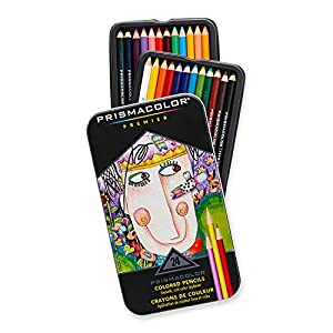 Prismacolor Premier Soft Core Colored Pencil, Set of 24 Assorted Colors (3597T)