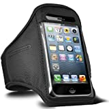 ONX3 Alcatel One Touch S'Pop Adjustable Sports Fitness Jogging Arm Band Case (Black)