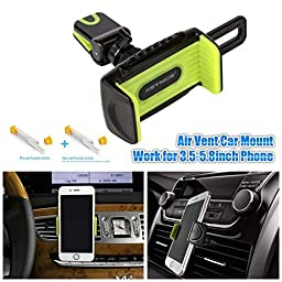 Car Mount,Keynice Car Mount Holder with Perfume Set, 2 -in-1, Air Vent Car Mount Cradle 360 Rotation for iPhone 6 6plus 6s 6splus 6 5s 5c 4s and all 3.5-5.8inch smartphones (369)