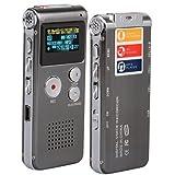 SODIALR 8GB Digit Diktiergeraet Aufnahmegeraet Voice Recorder WAV