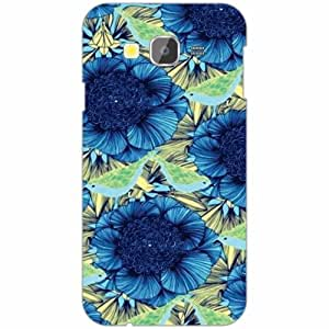 Samsung Galaxy Grand Prime SM-G530H Back Cover - Silicon Blue Flower Designer Cases