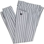 Buy Wilson Polyester Warp Knit Pinstripe Pants - 28 Inseam - Grey Black Pinstripe by Wilson