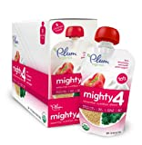 Plum Organics Mighty 4 Essential Nutrition Blend Pouch, Kale Strawberry Amaranth Greek Yogurt, 4 Ounce (Pack of 12)